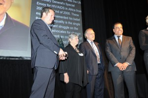 From left Jonathan Kolber, Michele Landsberg, Stephen Lewis, Dr Abuelaish