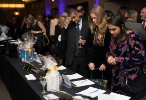 Silent auction table during Daughters for Life Gala Dinner 2017