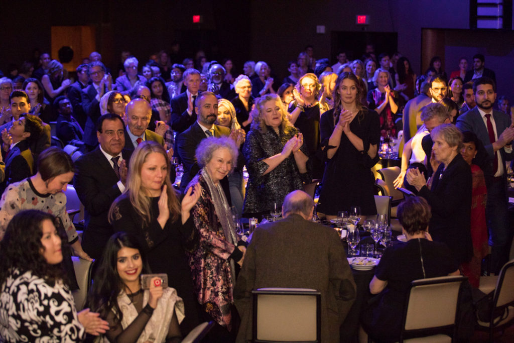 Daughters for Life Gala Dinner 2017, awarding Margaret Atwood and Penny Oleksiak DFLGala2017