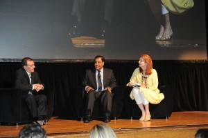 From left Shlomi Eldar, Dr. Abuelaish and Louise Dennys,