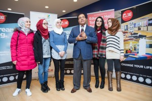 Dr Izzeldin Abuelaish DFL founder sharing his joy to welcome the girls